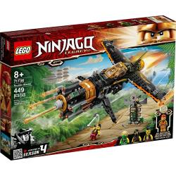 LEGO樂高積木 71736  202101 Ninjago 旋風忍者系列 - 忍者機關炮飛行機