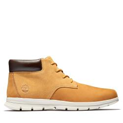 Timberland 男款小麥黃磨砂革防潑水休閒中筒靴A1UQD231