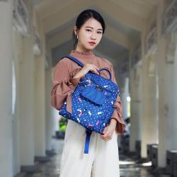lapagayo 輕時尚花漾防盜尼龍後背包-預購