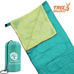 TreeWalker 輕便纖維睡袋-湖水綠/黃