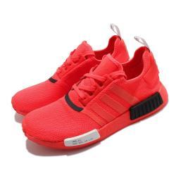adidas 休閒鞋 NMD R1 襪套式 女鞋 海外限定 愛迪達 三葉草 緩震 Boost 紅 黑 EF4267 [ACS 跨運動]