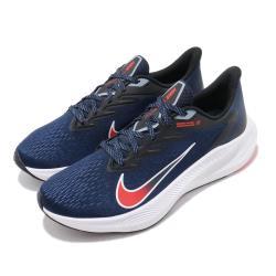 Nike 慢跑鞋 Zoom Winflo 7 運動 男鞋 氣墊 避震 舒適 透氣 路跑 健身 藍 白 CJ0291400 [ACS 跨運動]