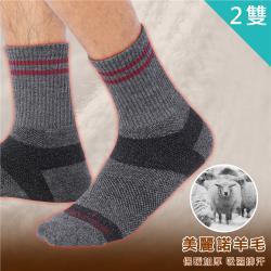 【Vital Salveo 紗比優】美麗諾羊毛登山保暖運動襪( 二雙入)(透氣舒適/除臭抗菌/吸濕排汗)