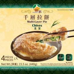 田家拉餅 韭菜千層拉餅(120*4入/盒)