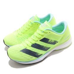 adidas 慢跑鞋 Adizero Adios 5 運動 女鞋 愛迪達 三線 路跑 緩震 透氣 黃綠 黑 H68736 [ACS 跨運動]