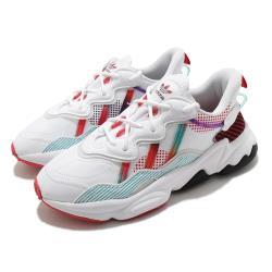 adidas 休閒鞋 Ozweego 流行款 女鞋 愛迪達 三葉草 老爹鞋 穿搭推薦 白 紅 Q47190 [ACS 跨運動]