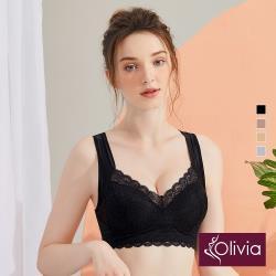 【Olivia】無鋼圈V型包覆美背內衣-黑色