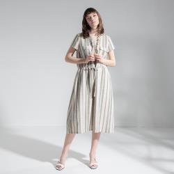 【PANGCHI 龐吉】清爽夏日條紋配色文青感洋裝(2018010-51/52/53)