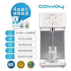 超值組★Coway 濾淨智控飲水機 冰溫瞬熱桌上型 CHP-242N-庫