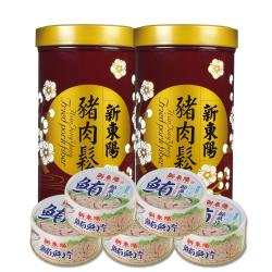 【新東陽】豬肉鬆 水煮鮪魚片 共7入組(豬肉鬆255g*2+水煮鮪魚片150g*5)