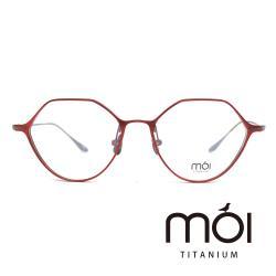 moi取意法語中的意涵-自我 / 純鈦光學眼鏡(紅) T001_01