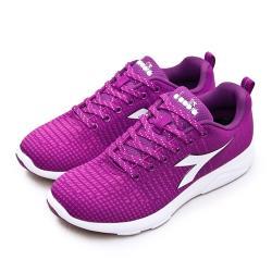 【DIADORA】女 迪亞多那 輕量飛織慢跑鞋 X RUN LIGHT 5系列(桃紫 175609-C8375)