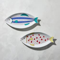 有種創意 - 日本晴九谷燒 - 魚大盤(2件組)