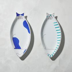 有種創意 - 日本晴九谷燒 - 貓大盤(2件組)