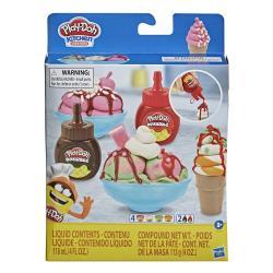 【 Play-Doh 培樂多黏土 】 雙醬冰淇淋遊戲組(輕便版)(F1190)