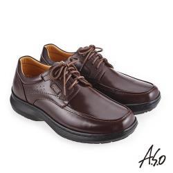 A.S.O 超能耐二代 舒適耐磨休閒鞋-咖啡