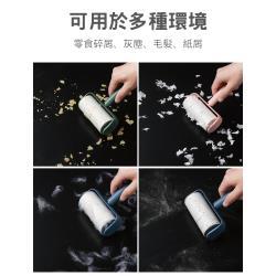馬卡龍色可撕式滾筒粘塵紙氈滾刷粘毛神器-加贈補充包3支