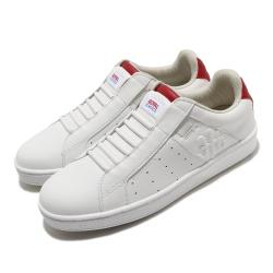 Royal Elastics 休閒鞋 Icon Genesis 運動 女鞋 基本款 皮革 簡約 套腳 舒適 穿搭 白 紅 91902001