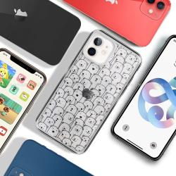 MOOTUN for iPhone 12 mini 5.4吋 防護晶透保護殼 - 滿版線條熊熊
