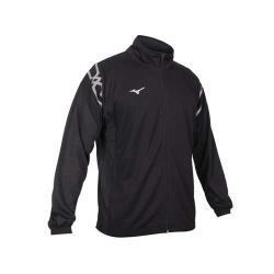 MIZUNO 男針織運動外套-立領外套 美津濃 吸濕排汗 抗UV 慢跑 路跑