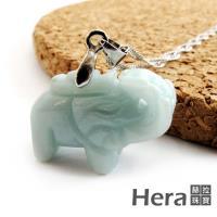 Hera 赫拉   頂級天然A貨翡翠吉祥如意大象項鍊