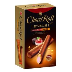 義美 黑巧克力捲(香甜草莓)137g