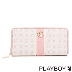 PLAYBOY -  ㄇ拉長夾 Bunny Poker 撲克甜心系列 - 粉色