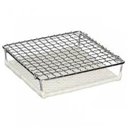 日本[丸十金網]金屬陶瓷雙層燒烤網 150mm(小)