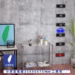 客尊屋-粗管小資型 35x90X75Hcm 銀衛士二層架