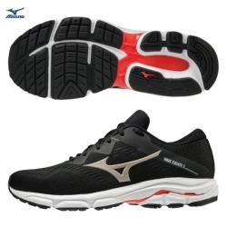 MIZUNO WAVE EQUATE 5 男鞋 慢跑 路跑 耐磨 支撐 黑【運動世界】J1GC214842