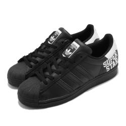 adidas 休閒鞋 Superstar 復古 低筒 女鞋 海外限定 愛迪達 三葉草 貝殼頭 皮革 黑 白 FV3740 [ACS 跨運動]