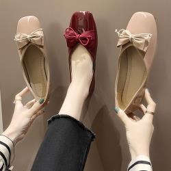 【Alice 】(現貨) 粉彩色調蝴蝶結優雅平底淑女鞋
