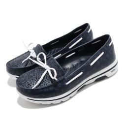 Skechers休閒鞋GoWalk5Nautical女鞋運動水鞋排水雨天必備健走鞋大底藍白111107NVY
