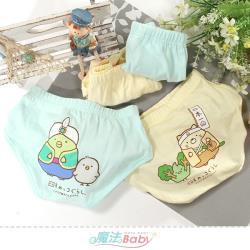 魔法Baby 男童內褲(4件一組) 角落小夥伴授權正版彈性三角內褲~k51530