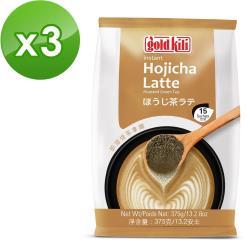 金麒麟 gold kili 即溶焙茶拿鐵X3袋(20gx15入/袋)
