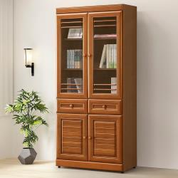 Homelike 樟木2.7尺中抽書櫃