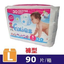 Fixies寶貝愛因斯坦長效型褲型尿褲L 4號90片  XL 5號84片  XXL 6號78片 3包裝/箱