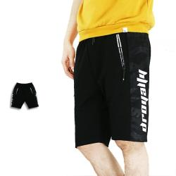 『RFD』迷彩英文字運動短褲-黑色《99901268》