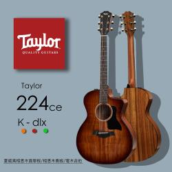 【Taylor 泰勒】Taylor 200系列 吉他附原廠琴盒-公司貨保固 (224CE-K-DLX)