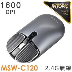 INTOPIC 廣鼎 2.4GHz飛碟無線靜音充電滑鼠(MSW-C120)
