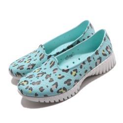 Skechers 水鞋 Go Walk Smart 休閒鞋 女鞋 雨天必備 快速排水 豹紋 好穿脫 藍 彩 111119BLMT [ACS 跨運動]