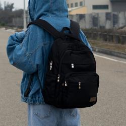 J II 後背包-無限多隔層防潑水後背包-黑色-6377-1