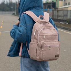 J II 後背包-無限多隔層防潑水後背包-藕粉色-6377-16