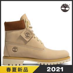 Timberland 男款淺米色磨砂革防水6吋靴A2JBX269