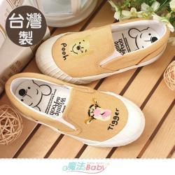 魔法Baby 女鞋 台灣製迪士尼小熊維尼正版新潮帆布鞋~sd3152