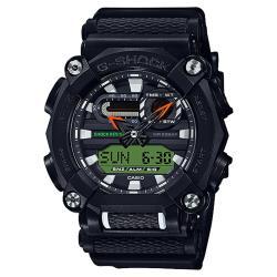 CASIO 卡西歐 G-SHOCK 潮流工業風雙顯計時手錶-黑 GA-900E-1A3