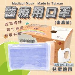 鈺祥 雙鋼印醫療用口罩-寶貝藍(50入盒裝)兒童適用 台灣製造