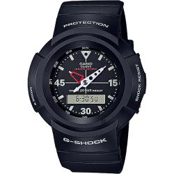 CASIO 卡西歐 G-SHOCK 復刻ONE TONE雙顯計時手錶-黑 AW-500E-1E
