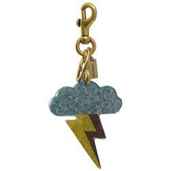 COACH 69280 閃電雲朵造型吊飾/鑰匙圈.金