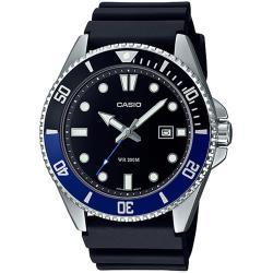 CASIO 卡西歐 新槍魚系列黑水鬼200米潛水錶/黑藍/MDV-107-1A2